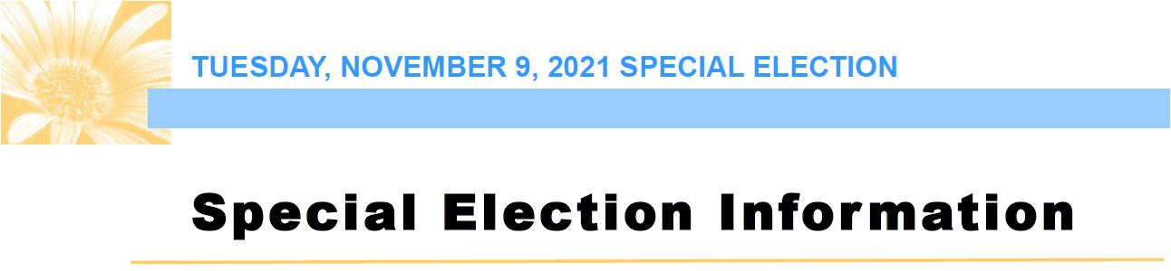 Click on the image to visit Special Election Information page